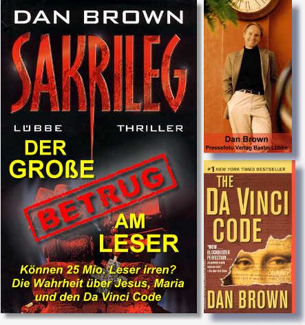 Sakrileg - Der große Betrug am Leser